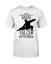 Never Underestimate Man Tai Chi September Classic T-Shirt thumbnail