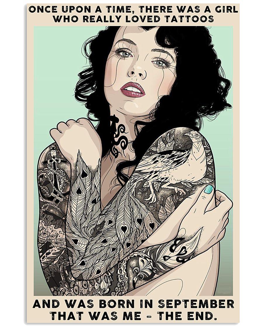 September Girl-Tattoos 24x36 Poster