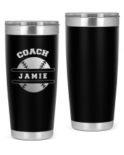 Baseball Coach Personalized Christmas Gift 20oz Tumbler front