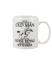 Old Man Horse Riding September Mug thumbnail