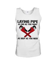 Plumber Laying Pipe Unisex Tank tile