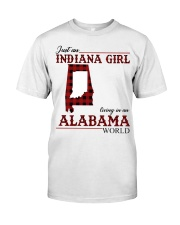 Just An Indiana Girl In Alabama World Classic T-Shirt front