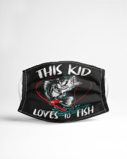 Funny kids fishing lover fish lovers Cloth face mask aos-face-mask-lifestyle-22