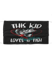 Funny kids fishing lover fish lovers Cloth face mask front
