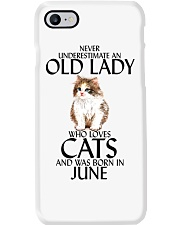 Never Underestimate Old Lady Cat June Phone Case thumbnail