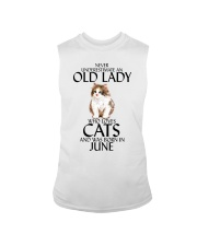 Never Underestimate Old Lady Cat June Sleeveless Tee thumbnail