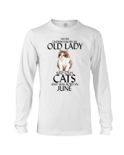 Never Underestimate Old Lady Cat June Long Sleeve Tee thumbnail