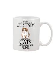 Never Underestimate Old Lady Cat June Mug thumbnail