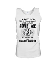 I Asked God For A Woman Who Will Love Me Unisex Tank thumbnail