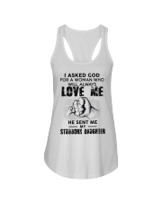 I Asked God For A Woman Who Will Love Me Ladies Flowy Tank thumbnail