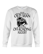 Never Underestimate Old Man Off-roading August Crewneck Sweatshirt thumbnail