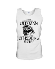 Never Underestimate Old Man Off-roading August Unisex Tank thumbnail