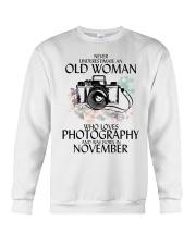 Old Woman Photography November Crewneck Sweatshirt thumbnail