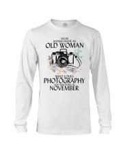 Old Woman Photography November Long Sleeve Tee thumbnail