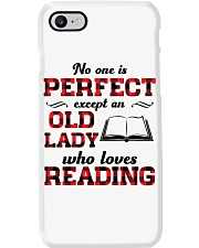 No One Is Perfect Except An Old Lady Reading Phone Case thumbnail