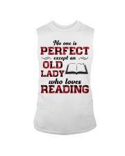 No One Is Perfect Except An Old Lady Reading Sleeveless Tee thumbnail