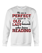 No One Is Perfect Except An Old Lady Reading Crewneck Sweatshirt thumbnail