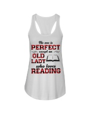 No One Is Perfect Except An Old Lady Reading Ladies Flowy Tank thumbnail