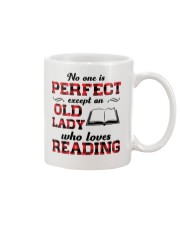 No One Is Perfect Except An Old Lady Reading Mug thumbnail