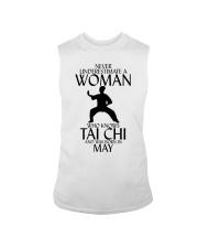 Never Underestimate Woman Tai Chi May Sleeveless Tee thumbnail