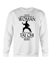 Never Underestimate Woman Tai Chi May Crewneck Sweatshirt thumbnail