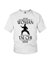 Never Underestimate Woman Tai Chi May Youth T-Shirt thumbnail