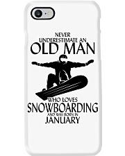 Never Underestimate Old Man Snowboarding January Phone Case thumbnail