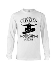 Never Underestimate Old Man Snowboarding January Long Sleeve Tee thumbnail