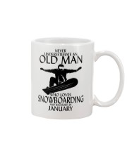 Never Underestimate Old Man Snowboarding January Mug thumbnail