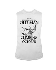 Never Underestimate Old Man Climbing  October Sleeveless Tee thumbnail
