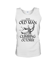 Never Underestimate Old Man Climbing  October Unisex Tank thumbnail