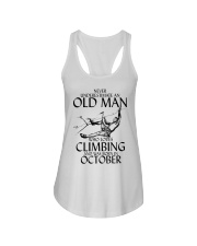 Never Underestimate Old Man Climbing  October Ladies Flowy Tank thumbnail