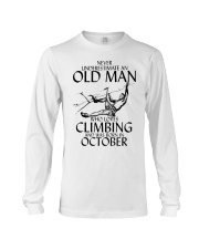 Never Underestimate Old Man Climbing  October Long Sleeve Tee thumbnail