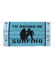 I'd Rather Be Surfing Cloth face mask thumbnail
