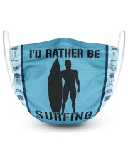 I'd Rather Be Surfing 2 Layer Face Mask - Single front