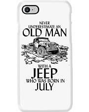 Never Underestimate Old Man Jeep July Phone Case thumbnail
