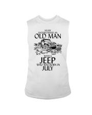 Never Underestimate Old Man Jeep July Sleeveless Tee thumbnail