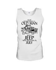 Never Underestimate Old Man Jeep July Unisex Tank thumbnail