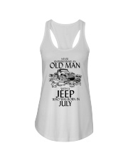 Never Underestimate Old Man Jeep July Ladies Flowy Tank thumbnail