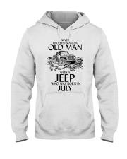 Never Underestimate Old Man Jeep July Hooded Sweatshirt thumbnail