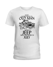 Never Underestimate Old Man Jeep July Ladies T-Shirt thumbnail