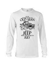 Never Underestimate Old Man Jeep July Long Sleeve Tee thumbnail