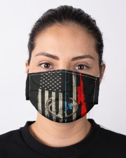 Fishing rod hunting rifle american flag  Cloth face mask aos-face-mask-lifestyle-01