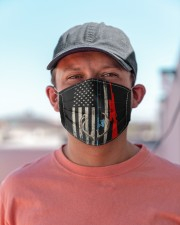 Fishing rod hunting rifle american flag  Cloth face mask aos-face-mask-lifestyle-06