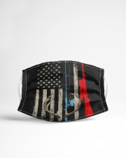Fishing rod hunting rifle american flag  Cloth face mask aos-face-mask-lifestyle-22