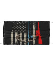 Fishing rod hunting rifle american flag  Cloth face mask front