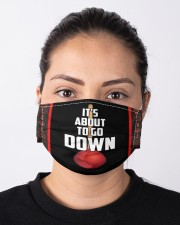 It's About To Go Down Cloth face mask aos-face-mask-lifestyle-01