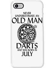 Never Underestimate An Old Man Loves Darts July Phone Case thumbnail