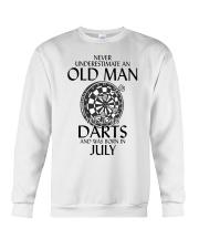 Never Underestimate An Old Man Loves Darts July Crewneck Sweatshirt thumbnail