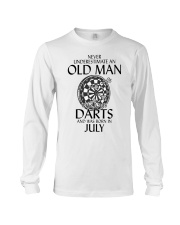 Never Underestimate An Old Man Loves Darts July Long Sleeve Tee thumbnail